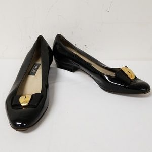 Bally Black Slip On Pumps Heels Size 8.5